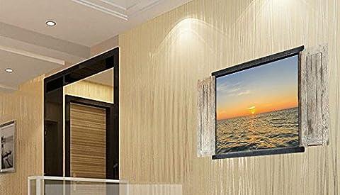 Skyllc® Environnement paysage 3D amovible fausse fenêtre style chinois sticker mural décoratif