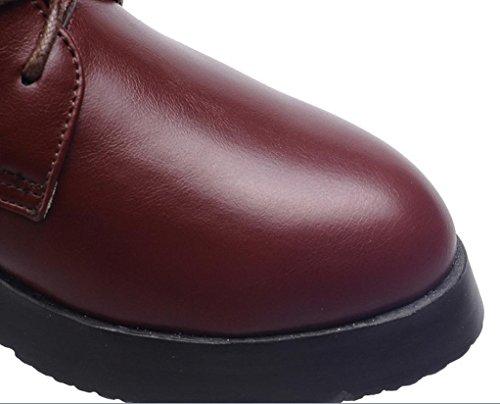 YCMDM Martin Bottes Femmes Chaussures Mode Motos Bottes Décontracté Marron 34 35 36 37 38 39 Automne Hiver brown