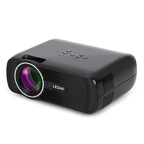 Mini Beamer LESHP Aktualisiert Mini LED Beamer, 1300 lumens Tragbar Projektor,1080p HD LCD Heimkino Theater, Full Color 130