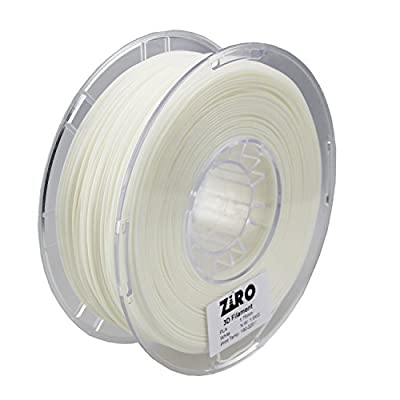 ZIRO 3D Printer Filament PLA 1.75 1KG(2.2lbs), Dimensional Accuracy +/- 0.05mm, White