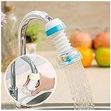 Boverty™ Anti-Splash Expandable Head Nozzle Bathroom Tap Adjustable Splash Sprinkler Head Sprinkler Water Saving Device Faucet Regulator (Multi Color)