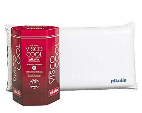PIKOLIN, Almohada viscoelástica Premium de 70 cm, firmeza Media, refrescante tecnología Cool Space...