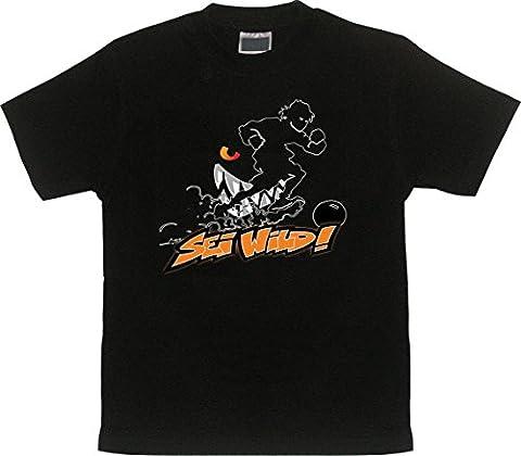 Wilde Kerle T-Shirt SEI WILD mit Wunsch-Name und Nummer Gr.140