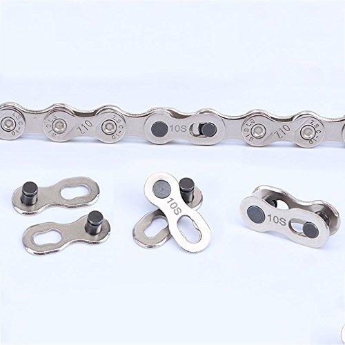 Forfar Wiederverwendbare Fahrrad-Kettenverschluss Link Joint Speed-Reparatur-Teil Silber 10 Geschwindigkeiten Ketten Nützliche NEU -