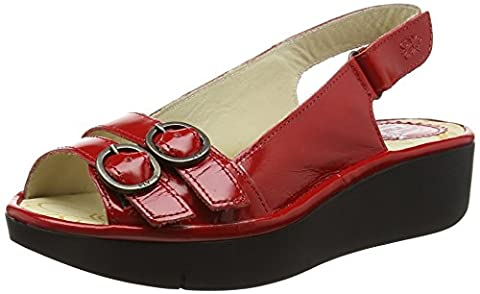 Fly London JOBE650FLY, Sandales femme - Rouge - Rouge, 37