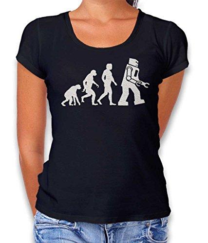 shirtminister Robot Evolution Big Bang Theory Damen T-Shirt Schwarz L