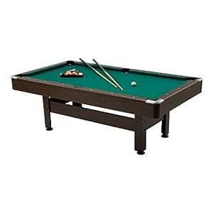 Virginia 6 tavolo biliardo gioco dimensioni 180x90 cm garlando table pool sport e - Tavolo da biliardo amazon ...