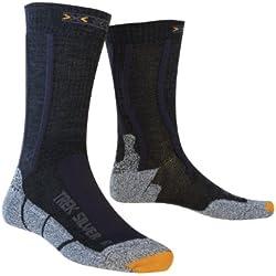 X-Socks Calcetines de acampada y senderismo, tamaño 42-44, color negro