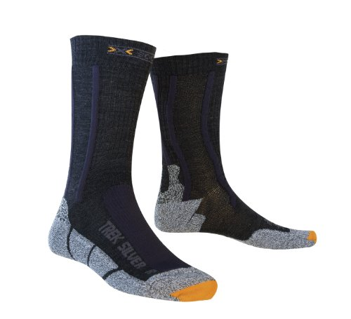 X-Socks Run Silver / 20318 Chaussettes randonnée Noir/Anthracite 42-44