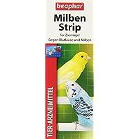 beaphar Milben Strip | Milbenschutz bei Wellensittichen & anderen Ziervögeln | Einfach an Vogel-Sitzstangen befestigen | 2 Milbenstrips