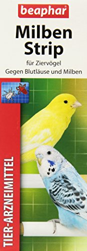Milben Strip | Milbenschutz bei Wellensittichen & anderen Ziervögeln | Einfach an Vogel-Sitzstangen befestigen | 2 Milbenstrips