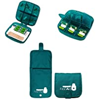 Reisepilletasche Grüner Kasten mit Multi-Taschen beweglicher Pilletasche für Reisen (Grüner Kasten mit Tasche) preisvergleich bei billige-tabletten.eu