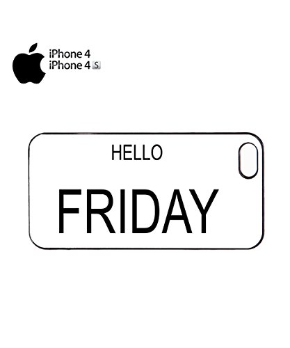 Hello Friday Weekend Coming Happy Day Tumblr Cute Mobile Phone Case Cover iPhone 6 Plus + Black Noir