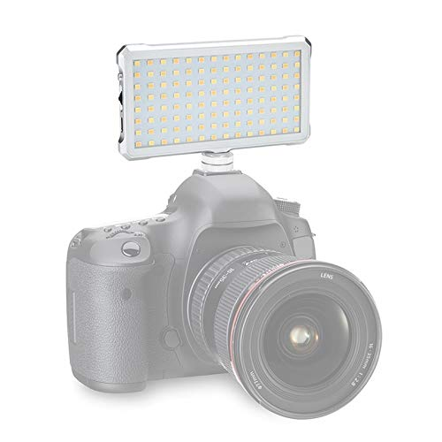 Portable high-Power Photographic Lighting Panel Shishanshan F12 Tasche 112 LEDs 1080LUX Professionelle Vlogging Fotografie Video & Foto-Studio-Licht mit OLED-Display for Canon/Nikon DSLR-Kameras (we