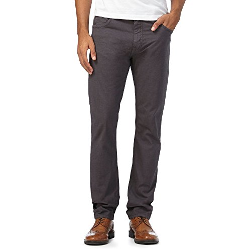 RJR.John Rocha Men Dark Grey Slim Trousers 38S
