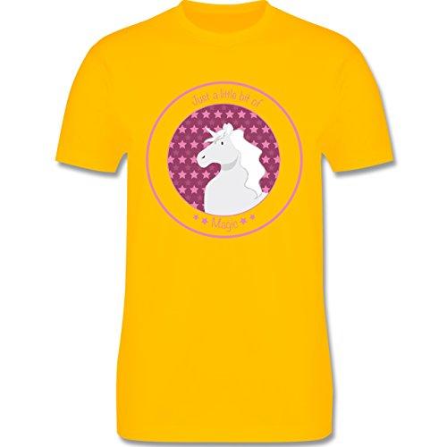 Pferde - Einhorn rosa - Herren Premium T-Shirt Gelb