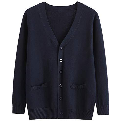 DQANIU Frauen Mantel, Plus Size Frauen geknöpfte Strickjacke Herbst/Winter Campus Style Top Langarm Bluse Lose Mantel Jacke