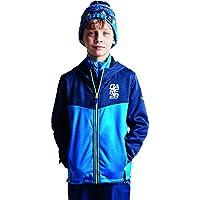 Dare 2b - Forro Polar con Capucha para niños, Infantil, Color Athletic Blue/Admiral Blue, tamaño 7-8