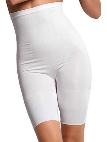 GUAINA VITA ALTA Modellante Contenitiva Snellente PANTALONCINO Senza Cuciture filato traspirante ed antibatterico Shapewear ECO Sensì Made in Italy S M L XL nero- bianco naturale Naturale