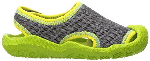 Crocs Swiftwater Mesh Sandal K Gpt/vgr, Spartiates mixte enfant Gris (Graphite/Volt Green)