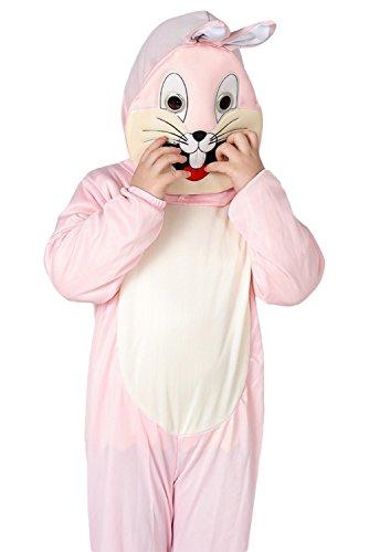 Häschen Strampler Pyjama kostüm Bekleidung Karikatur Tier Jumpsuit Spielanzug Schlafanzug Rosa 130CM