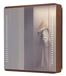 Armoire Toilette Chêne Lumineux Bluetooth Anti-Buée Capteur Rasoir K1Drgbaud