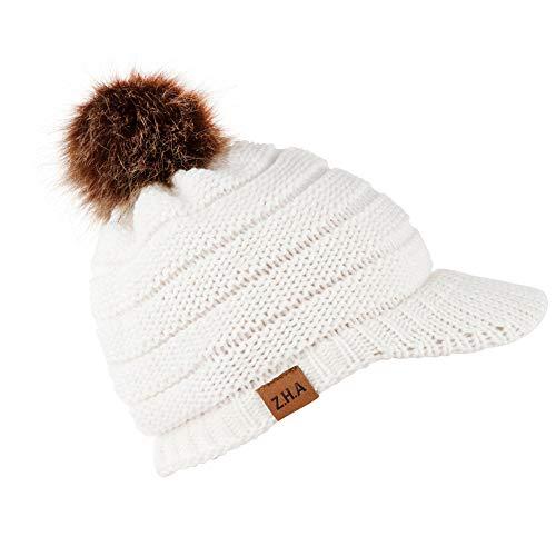VRTUR Damen Winter Warme StrickMütze Baumwolle Mütze Handarbeit Warm Kappen Kopfbedeckung Hut Neverless