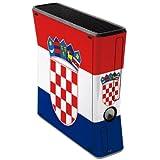 label pepper selbstklebende Designfolie Skin für XBox 360 slim 250 GB - Kroatien
