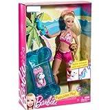Barbie - X4460 - Puppy Water Play / Hunde-Pool - Barbie mit 2 Welpen, Pool und Seepferdchen