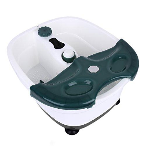 NICEAO Elektrisches Fußsprudelbad * Vollautomatisches Fußmassagegerät * Fußmassage * Fußreflexzonenmassage * Fußbad automatische Heizung