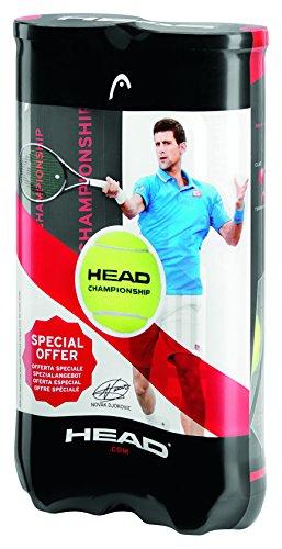 HEAD 2x4B CHAMPIONSHIP-NOVAK-12DZ Tennisball, gelb, Nicht zutreffend