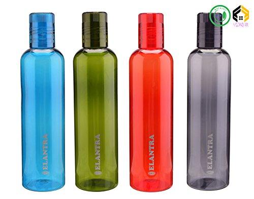 Aarushi Unbrakable Plastic Water Bottles  Pack of 4  500 ML