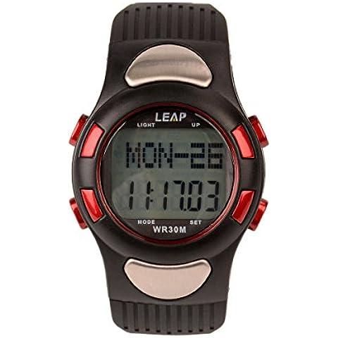 Ckeyin ® Orologio Sport con Fascia Cardio, Pedometro, 30m Impermeabile, Funzione SPL, 1/100 di Secondo del Cronografo