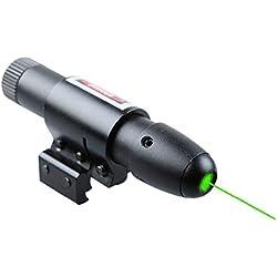 MAYMOC Vue de laser vert Laser pointeur présentateur Pen visant vue Dot portée avec support Ajustable 11MM 21MM