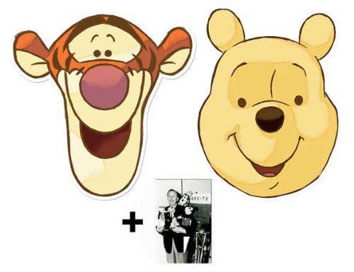 Girl Kostüm Pooh The Winnie - Winnie The Pooh und Tigger card Karte Partei Gesichtsmasken (Maske) Packung von 2