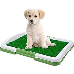 fasloyu Pet Toilettentrainer Gras, Hund Indoor Töpfchen Trainer Gras Pee Pad für Pet Cat Puppy Outdoor Patch Toiletten, grün, 60 * 75mm