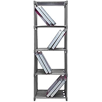 Sterling 4 Layer Book Shelf for Books, Toys Etc. 126 x 30 x 42 cm Grey Color 1 Pc