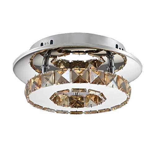 Amber Glas Schneiden (HOMECR Kristall Glanz Kronleuchter Decke Lampe Modernd Led Chandelies Glanz Gang Treppen Küche Lampe Für Home Deco Leuchten Amber)