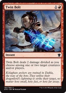 Magic: the Gathering - Twin Bolt (164/264) - Dragons of Tarkir by Wizards of the Coast - Twin Bolt