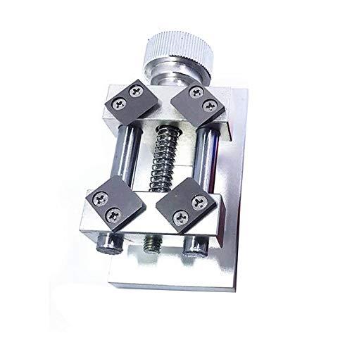Uhrmacher Universal Aluminium Alloy Clamp Skulptur Einstellbare Tabelle Mehr Schraube Mini Nussknacker Jaw DIY Uhr(Silber)