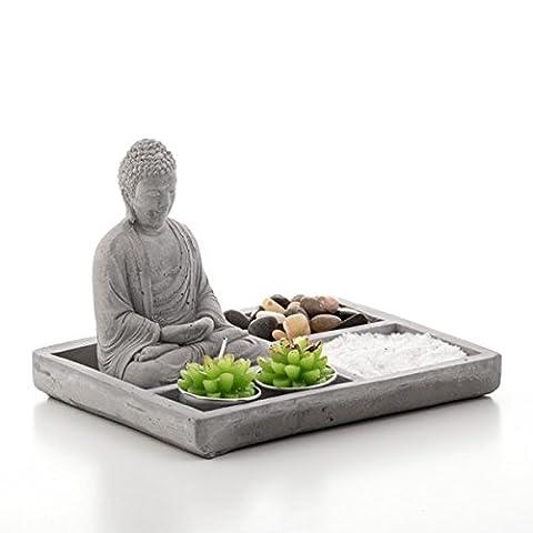 Miniatur Zen Garten mit Buddha und Kerzen Dekoration für Tisch