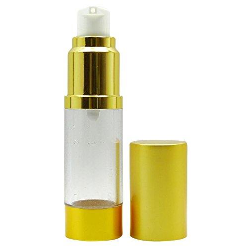 2 pcs vides en plastique transparent bouteilles Airless gros Voyage Golden Matt Airles ...