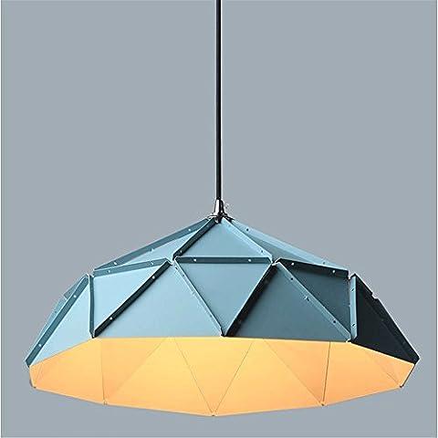 GZEDG Après lustre lampe moderne chambre minimaliste restaurant salon fer forgé créatif nordique lustre D460 (mm) ( Color : Lumière chaude