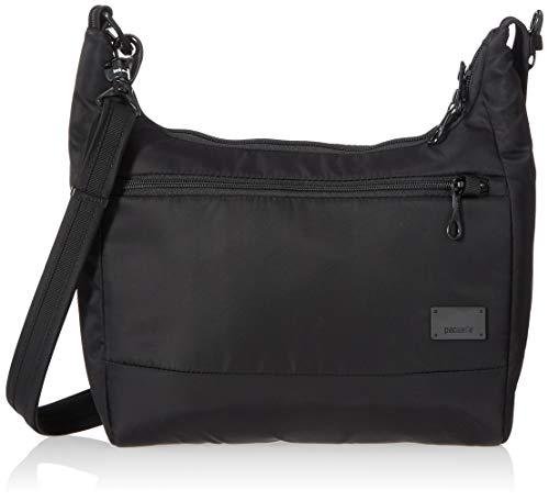 PacSafe Citysafe CS100 anti-theft travel handbag Borsa Messenger, 30 cm, 5 liters, Nero (Black 100)