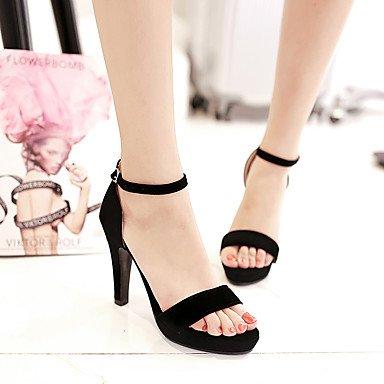 LvYuan Da donna-Sandali-Casual Serata e festa-Altro Club Shoes-Quadrato-Finta pelle-Nero Black