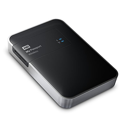 WD 2TB  My Passport Wireless tragbare Festplatte - WIFI, USB 3.0 - WDBDAF0020BBK-EESN