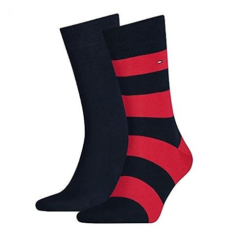 TOMMY HILFIGER Herren Rugby Socken 4er Pack, Größe:43-46;Farbe:Tommy Original