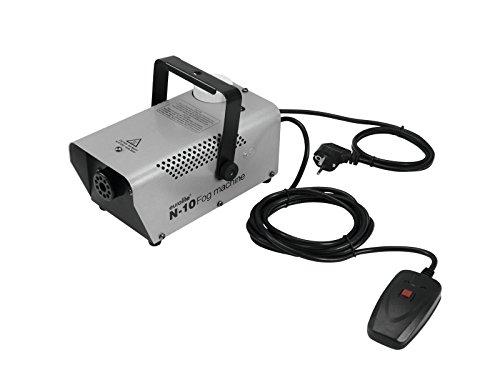 (Eurolite N-10 Nebelmaschine silber | Kompakte 400-W-Nebelmaschine mit Kabelfernbedienung | Topseller für Partyräume)