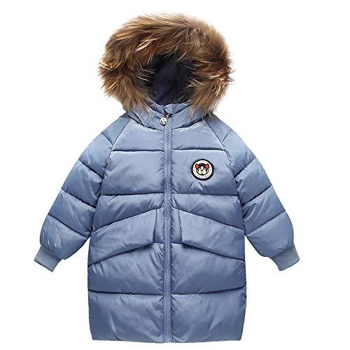 Riou Mantel Baby Kleidung Winter Warme Mantel Kapuzenjacke Kinderjacke Wintermantel Daunenjacke Weihnachten Kinder Mädchen Jungen Kapuzenmantel Hoodie Jacke Dicke Warme Oberbekleidung (140, Blau)