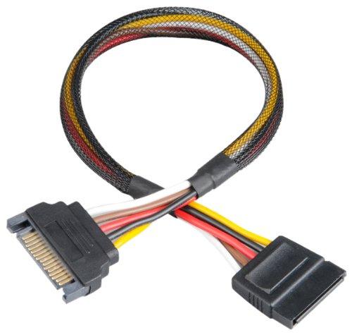 akasa-sata-power-cable-macho-hembra-negro-03-m